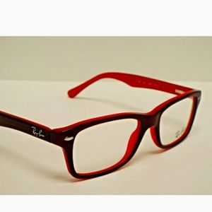 Ray-Ban cherry red perscription frames
